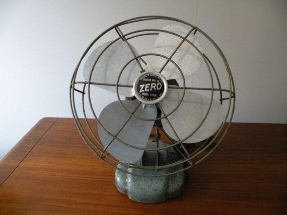 Vintage Zero Electric Fan Retro and Shabby
