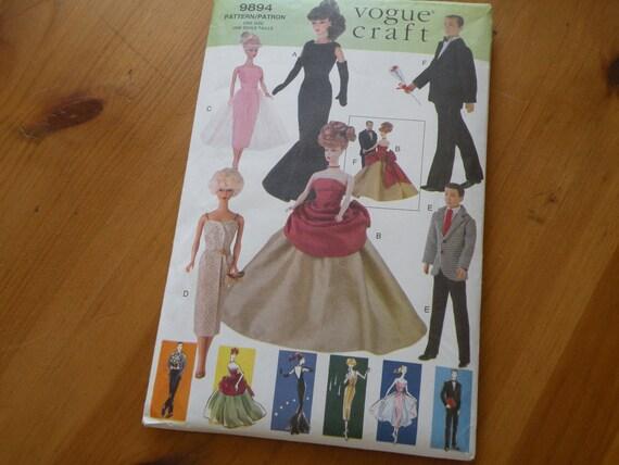 Vintage Vogue Barbie Pattern 9894, Uncut and factory folded
