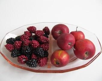 Vintage Divided Dish Pink Depression Glass Relish