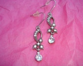 Retro Scroll Rhinestone Earrings