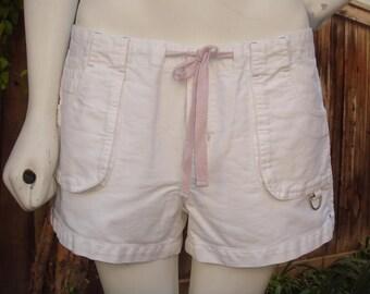Vintage White Beach Shorts