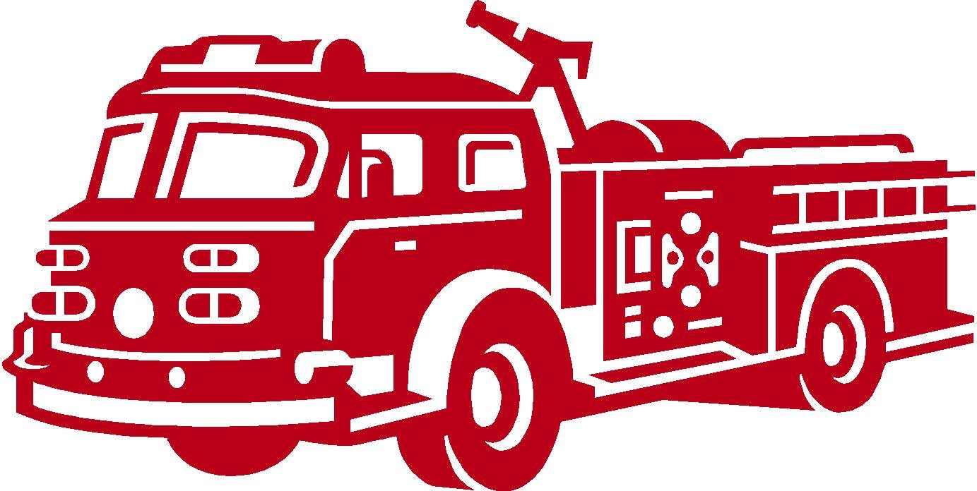 Firetruck Vinyl Wall Art Decal Free Shipping