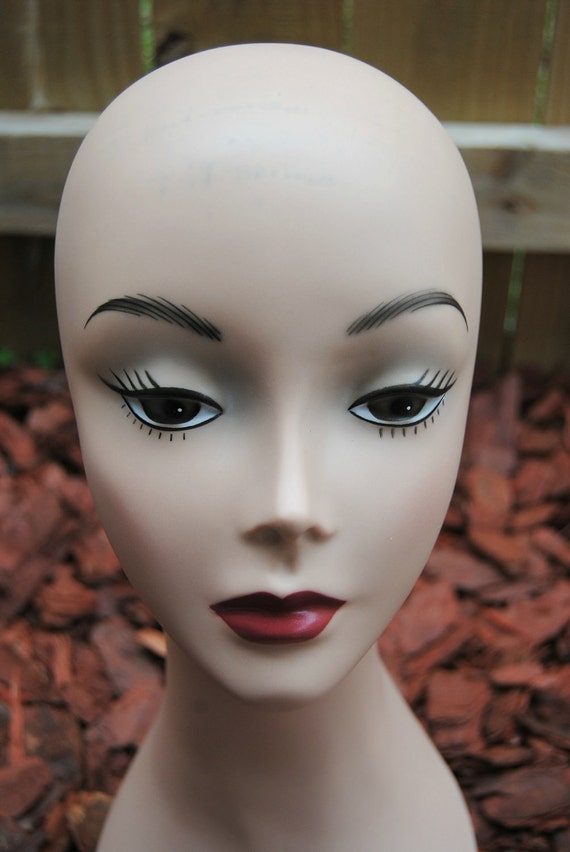 Last One Vintage Style Mannequin Head to Upcycle or Display Hats Jewelry