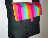 Rainbow Reversible Messenger Bag