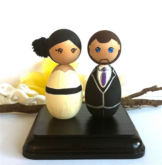 kokeshi doll wedding cake toppers items similar to kokeshi dolls wedding cake toppers custom 16655