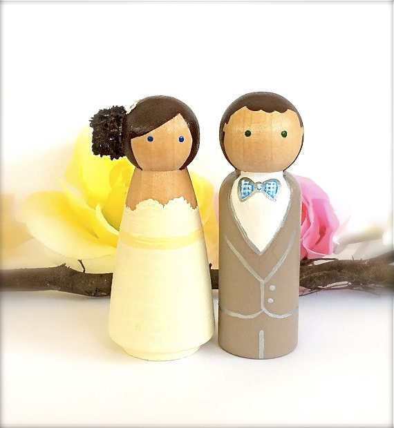 peg doll wedding cake toppers uk wedding cake topper custom cake topper peg dolls large 18184