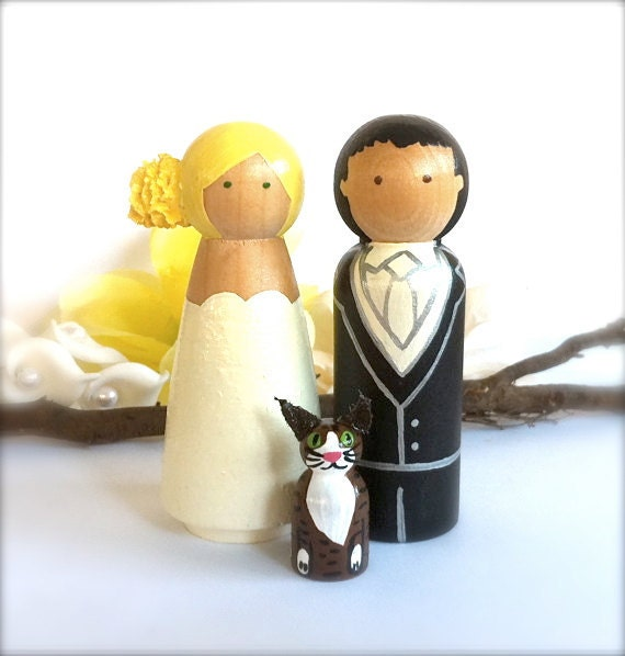 personalised wooden wedding cake toppers uk items similar to custom wood wedding cake topper with pet 18259