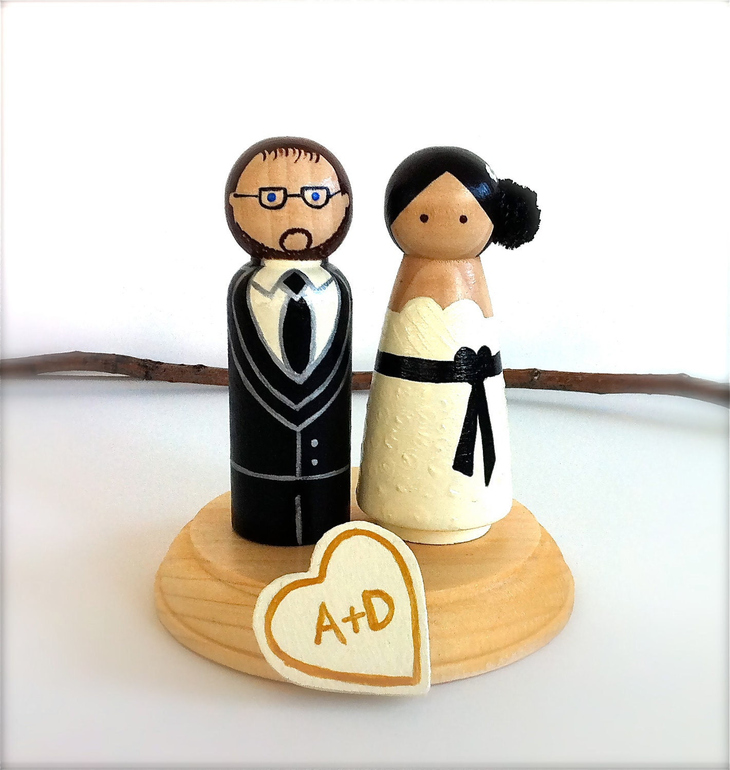 Custom Wedding Cake Toppers Bride and by CreativeButterflyXOX