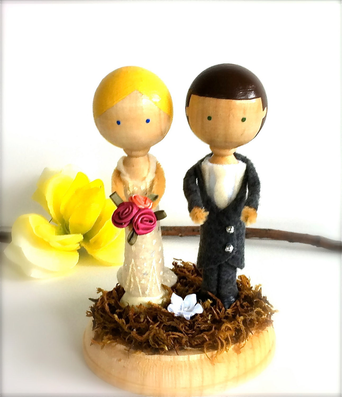 wedding cake toppers: Whimsical Wedding Cake Toppers