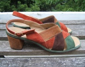 vintage 8.5 neutral suede sandals