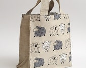 Lunch bag - Eco friendly - little sheeps.
