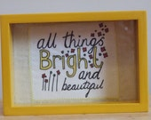 All things Bright and Beautiful fabric illustration
