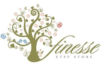 Shop Banner, Pre-made, Logo Design, - Includes, tree logo & butterfly logo Set Includes Logo design, Banners, Avatar, and more.....
