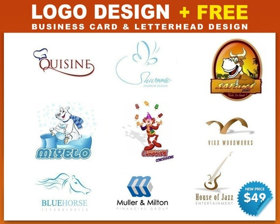 Custom Logo Design Custom Made  - free business card and letterhead design