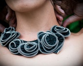 Le Cirque de Mode Zipper Rose Necklace