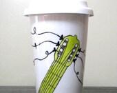 Painted Travel Coffee Mug- Sweet Melodies, Eco-Friendly