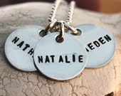Custom sterling silver teeny tags necklace with NO spacers