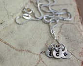 Custom charm necklace, sterling silver with itty bitty tags