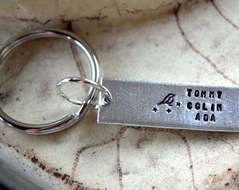 Key chain -- Custom names with little bird