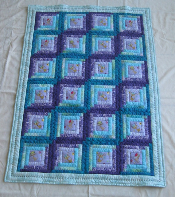 Princess Cats in Log Cabins Quilt