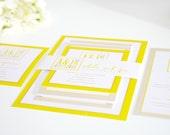 Modern Logo Wedding Invitation Suite, Deposit