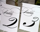 Wedding Table Numbers - Any Color - 4x6 - For your Wedding or Party