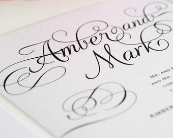 Elegant Wedding Invitation - Charming Script Sample