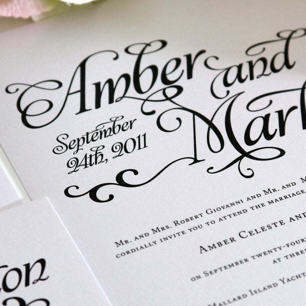 Wedding Invitation Free Fonts: Alluring Script Wedding Invitations Sample In By