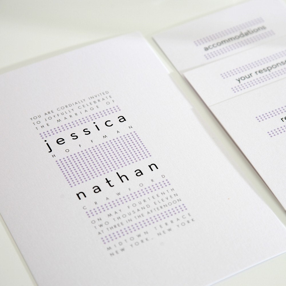 Modern Wedding Invitation Dots Polka Dots By ShineInvitations