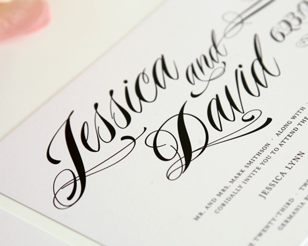 Wedding Invitation Calligraphy Font | denarius.info