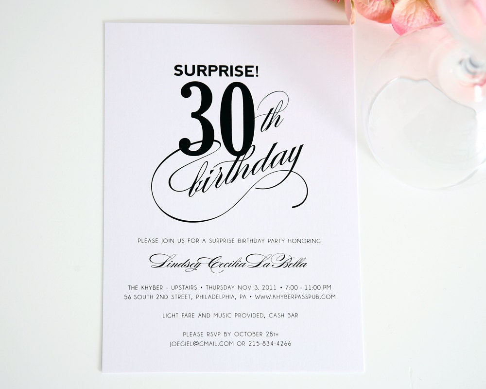 Surprise Wedding Anniversary Invitations: Surprise Birthday Invitation Surprise Party By