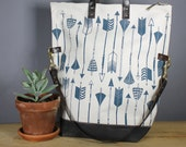 Fold over Tote, (Arrow print)
