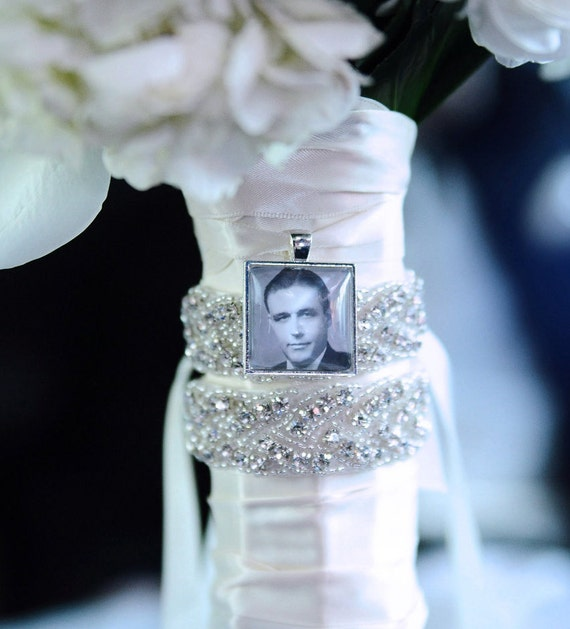 bridal bouquet charm wedding bouquet charm bridal charm photo memory
