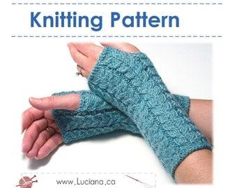 Knitting Pattern - Fingerless Gloves