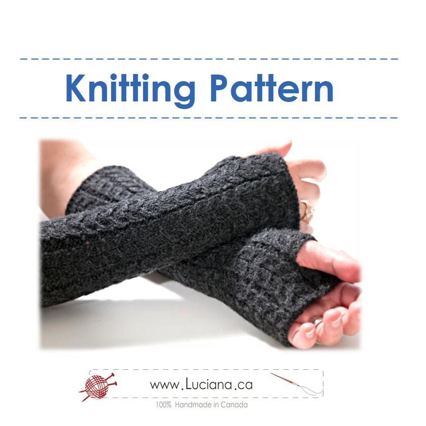 Knitting Pattern Fingerless Gloves