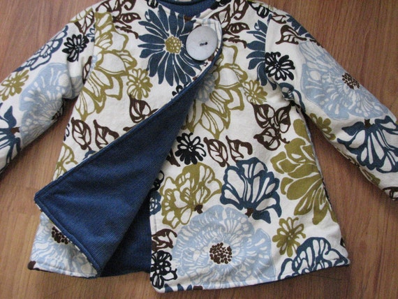pdf EVERY-WHICH-WAY coat pattern and tutorial...sizes 2t-5t, reversible