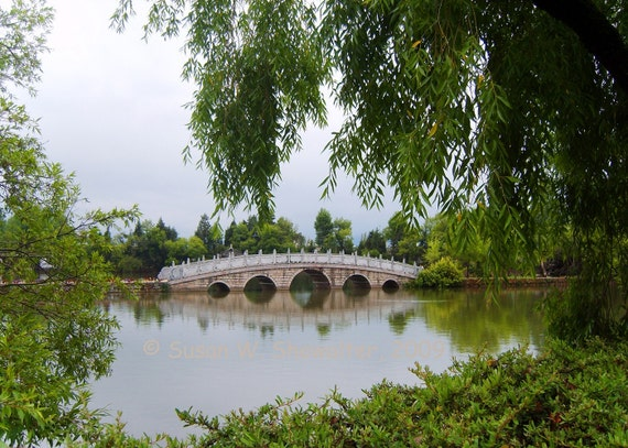 Park Bridge in China, 5 x 7 Archival Inkjet Limited Edition Print, Double Matt, Free Shipping in USA