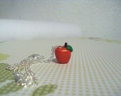 red apple necklace