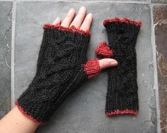 Fingerless Gloves - Llama/Silk Blend