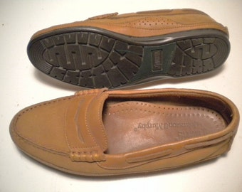 Vintage Johnston and Murphy Mens Leather Penny Loafer Driving Moccasins Mens 8 M