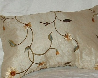 Embroidered Organza pillow