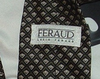 SALE.......Black with Gray Necktie by Faraud tie for Men Dress Shirt Tie, Made in USA