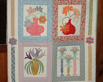 Hand Quilted  Appliqued quilt