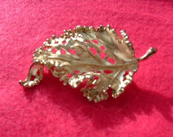 CURLY LEAF BROOCH