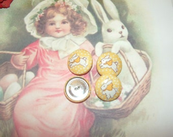 4 Bunny Buttons
