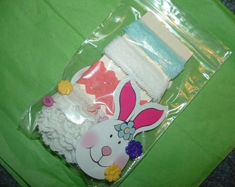 Spring Lace Buttons and Bunny Cards