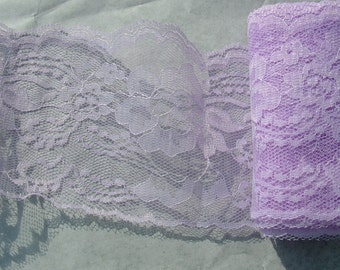 9 Yards of 4 inches wide Light Purple lace ,Grape  Lace, lilac