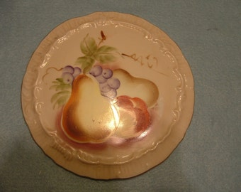 Vintage Lefton Hand Painted Still Life Fruit Wall Plaque
