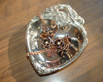 Ornate Heart Dish by Leonard Silverplate