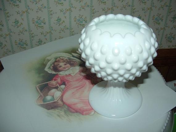 Fenton Milk Glass Hobnail Vase